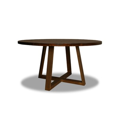 Masse Dining Table Color: Walnut, Size: 30 H x 60 W x 60 D