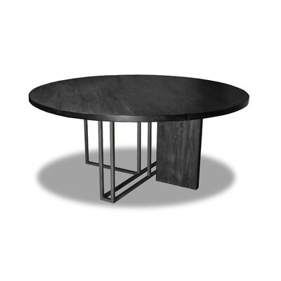 Macdougal Dining Table Color: Cement, Size: 30 H x 72 W x 72 D
