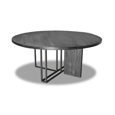 Macdougal Dining Table Color: Gray, Size: 30 H x 72 W x 72 D