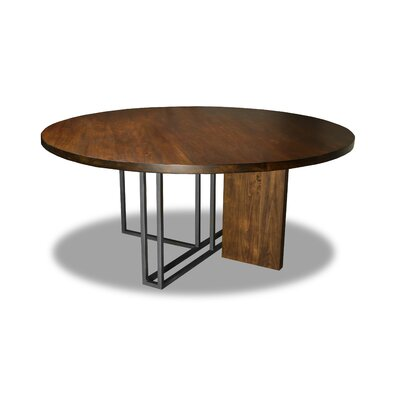 Macdougal Dining Table Color: Walnut, Size: 30 H x 72 W x 72 D