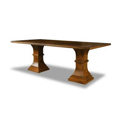 Pascarella Dining Table Color: Walnut, Size: 30 H x 84 W x 84 D