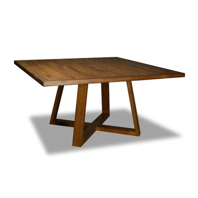 Masse Dining Table Color: Walnut, Size: 30 H x 72 W x 72 D