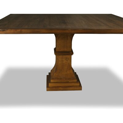 Pascarella Dining Table Color: Walnut, Size: 30 H x 60 W x 60 D