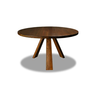 Nunley Dining Table Color: Walnut, Size: 30 H x 54 W x 54 D