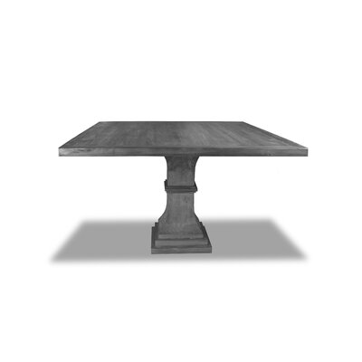 Pascarella Dining Table Color: Gray, Size: 30 H x 60 W x 60 D