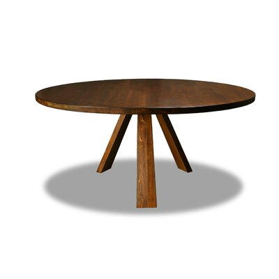 Nunley Dining Table Color: Walnut, Size: 30 H x 72 W x 72 D