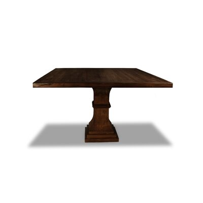 Pascarella Dining Table Color: Cognac, Size: 30 H x 72 W x 72 D