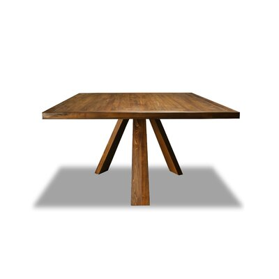 Nunley Dining Table Color: Walnut, Size: 30 H x 60 W x 60 D