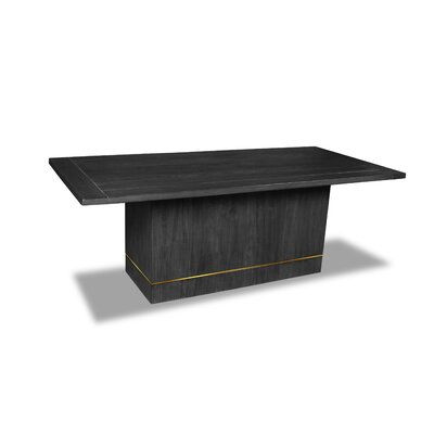 Macek Dining Table Color: Cement, Size: 30 H x 84 W x 84 D