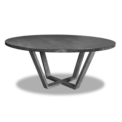 Macarthur Dining Table Color: Gray, Size: 30 H x 72 W x 72 D