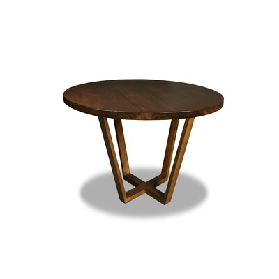 Macarthur Dining Table Color: Walnut, Size: 30 H x 48 W x 48 D