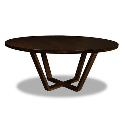 Macarthur Dining Table Color: Cognac, Size: 30 H x 72 W x 72 D