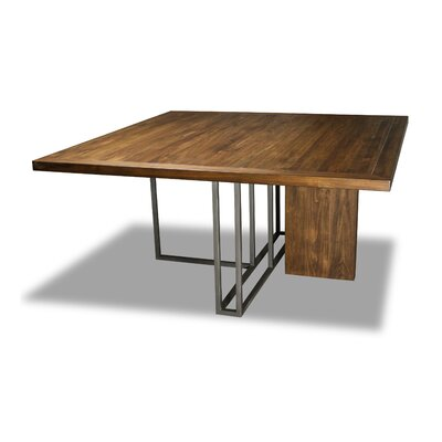 Macdougal Dining Table Color: Walnut, Size: 30 H x 60 W x 60 D