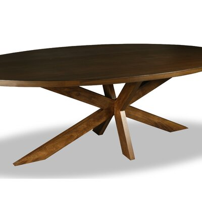 Macedo Dining Table Color: Walnut, Size: 30 H x 96 W x 96 D