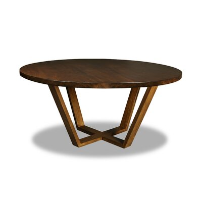 Macarthur Dining Table Color: Walnut, Size: 30 H x 60 W x 60 D
