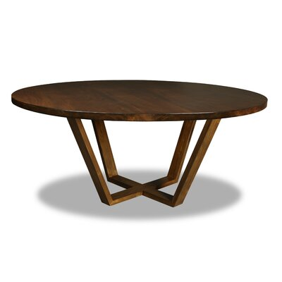Macarthur Dining Table Color: Walnut, Size: 30 H x 72 W x 72 D