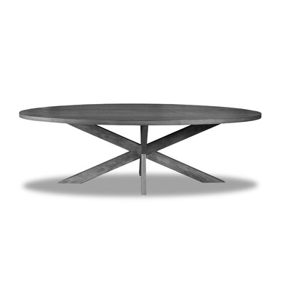 Macedo Dining Table Color: Gray, Size: 30 H x 84 W x 84 D