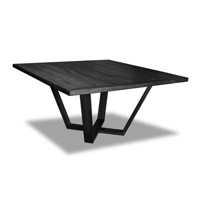 Macarthur Dining Table Color: Cement, Size: 30 H x 60 W x 60 D