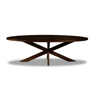 Macedo Dining Table Color: Cognac, Size: 30 H x 96 W x 96 D