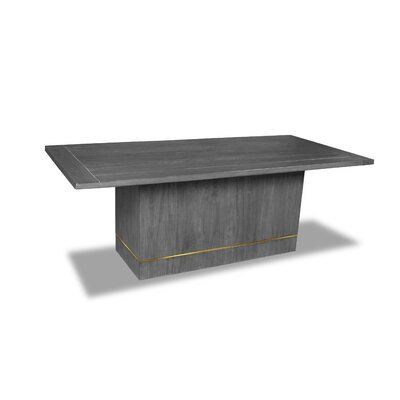 Macek Dining Table Color: Gray, Size: 30 H x 84 W x 84 D