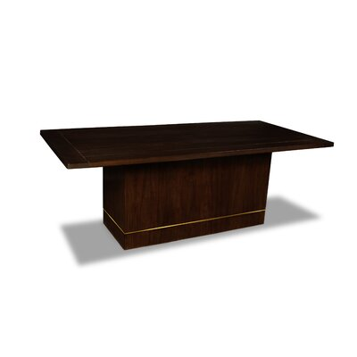 Macek Dining Table Color: Cognac, Size: 30 H x 84 W x 84 D