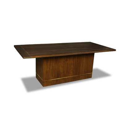 Macek Dining Table Color: Walnut, Size: 30 H x 84 W x 84 D