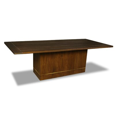 Macek Dining Table Color: Walnut, Size: 30 H x 96 W x 96 D