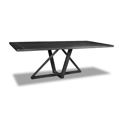 Nuss Dining Table Color: Cement, Size: 30 H x 96 W x 40 D