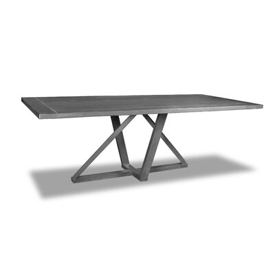 Nuss Dining Table Color: Gray, Size: 30 H x 96 W x 40 D