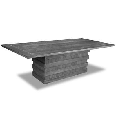 Macfarlane Dining Table Color: Gray, Size: 30 H x 96 W x 96 D