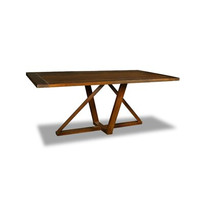 Nuss Dining Table Color: Walnut, Size: 30 H x 72 W x 72 D
