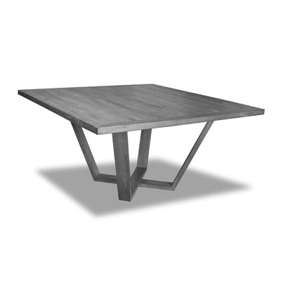 Macarthur Dining Table Color: Gray, Size: 30 H x 60 W x 60 D