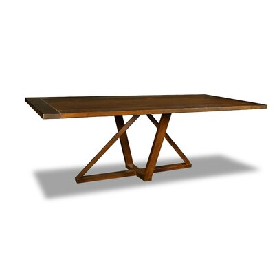 Nuss Dining Table Color: Walnut, Size: 30 H x 84 W x 84 D