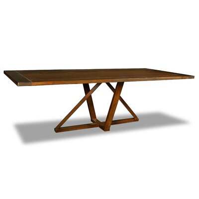 Nuss Dining Table Color: Walnut, Size: 30 H x 96 W x 40 D