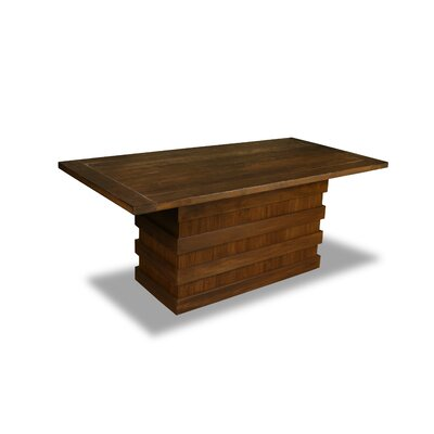 Macfarlane Dining Table Color: Walnut, Size: 30 H x 72 W x 72 D