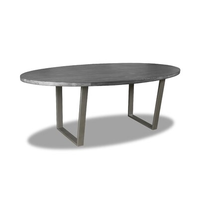 Maliana Dining Table Color: Gray, Size: 30 H x 96 W x 96 D