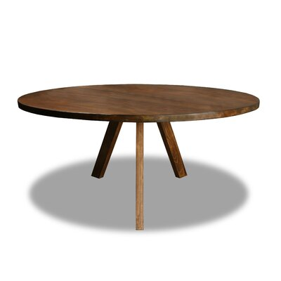 Mach Dining Table Color: Walnut, Size: 30 H x 72 W x 72 D