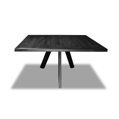 Mach Dining Table Color: Cement, Size: 30 H x 72 W x 72 D