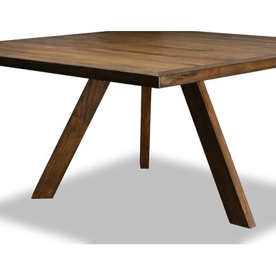 Mach Dining Table Color: Walnut, Size: 30 H x 60 W x 60 D
