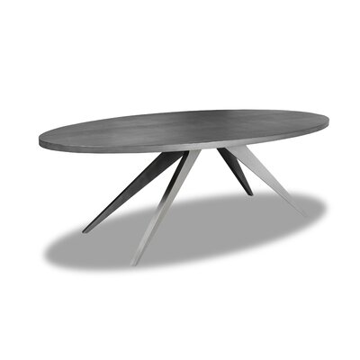 Macaulay Dining Table Color: Gray, Size: 30 H x 84 W x 84 D