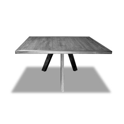 Mach Dining Table Color: Gray, Size: 30 H x 72 W x 72 D