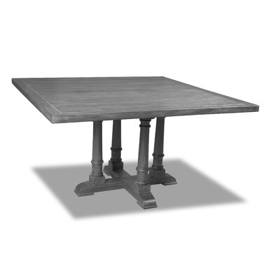 Kendrick Dining Table Color: Gray, Size: 30 H x 72 W x 72 D