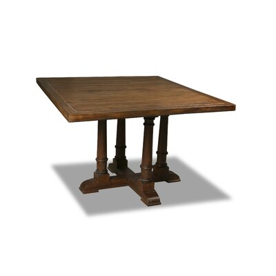 Kendrick Dining Table Color: Walnut, Size: 30 H x 60 W x 60 D