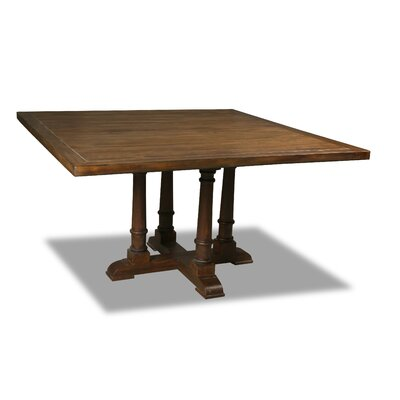 Kendrick Dining Table Color: Walnut, Size: 30 H x 72 W x 72 D