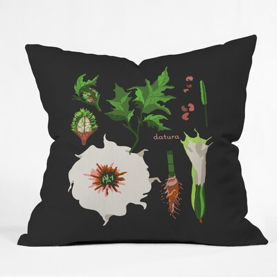 Holli Zollinger Desert Botanical Throw Pillow Size: 18 x 18
