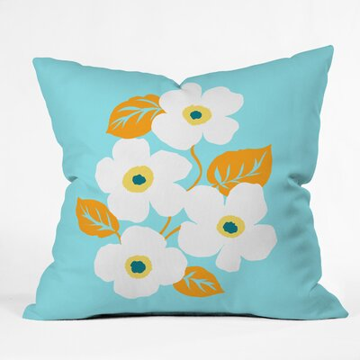 Gabriela Fuente Minimal Floral Throw Pillow Size: 16 x 16