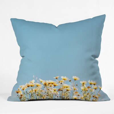 Hello Twiggs Minimal Daisies Throw Pillow Size: 18 x 18
