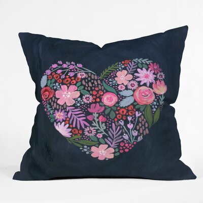 Stephanie Corfee Heart Aflutter Throw Pillow Size: 16 x 16