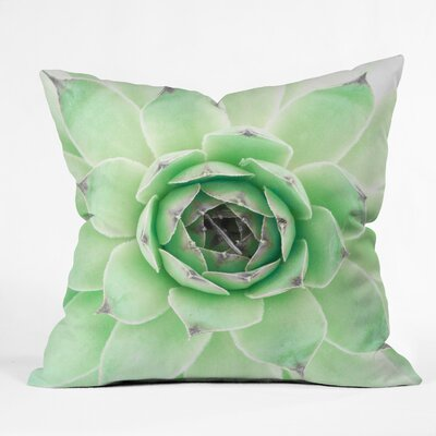 Emanuela Carratoni Mint Succulent Throw Pillow Size: 18 x 18
