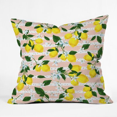 Marta Barragan Camarasa Lemons Throw Pillow Size: 16 x 16
